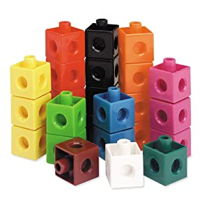 Learning Resources Snap Cubes, Educational Counting Toy, Math Classroom Accessories, Teacher Aids, Set of 100 Snap Cubes, Ages 5+