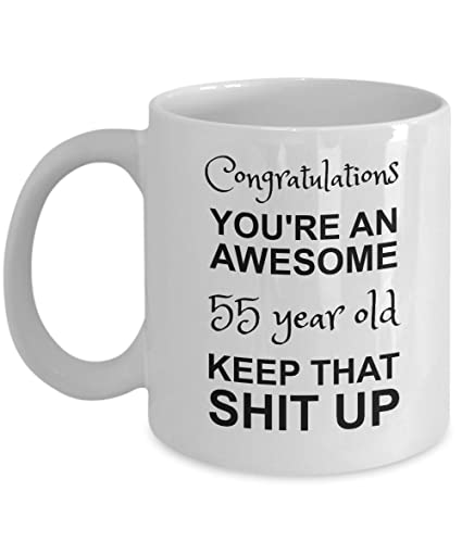 Amazon 55th Birthday Mug