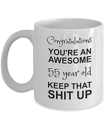 Amazoncom 55th Birthday Mug Youre Awesome Funny