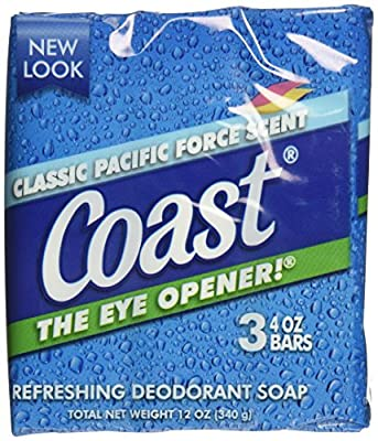 Coast Bath Bars Original Blue 3 Bar Soap, 12 oz