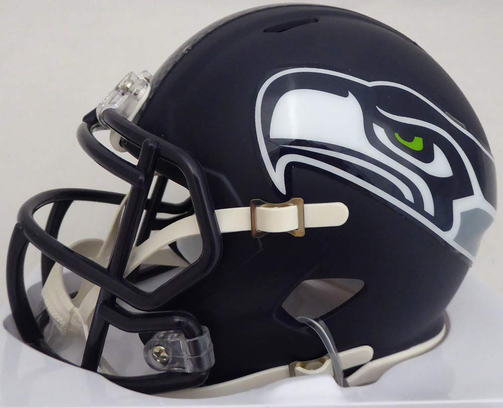 MICHAEL DICKSON AUTOGRAPHED SEATTLE SEAHAWKS SPEED MINI HELMET IN GREEN MCS HOLO STOCK #138021