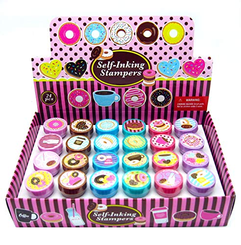 TINYMILLS 24 Pcs Donuts Stampers for Kids