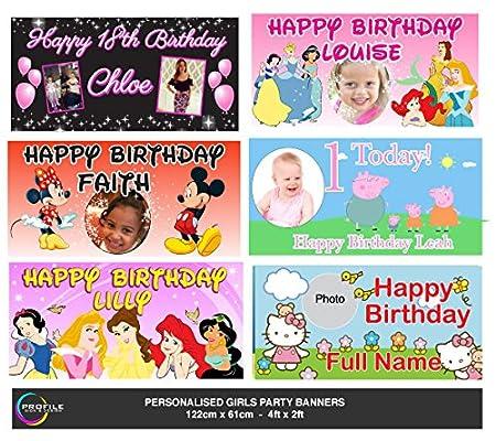 Personalizado Cumpleaños Party Banners - Incluyen Cartel de ...