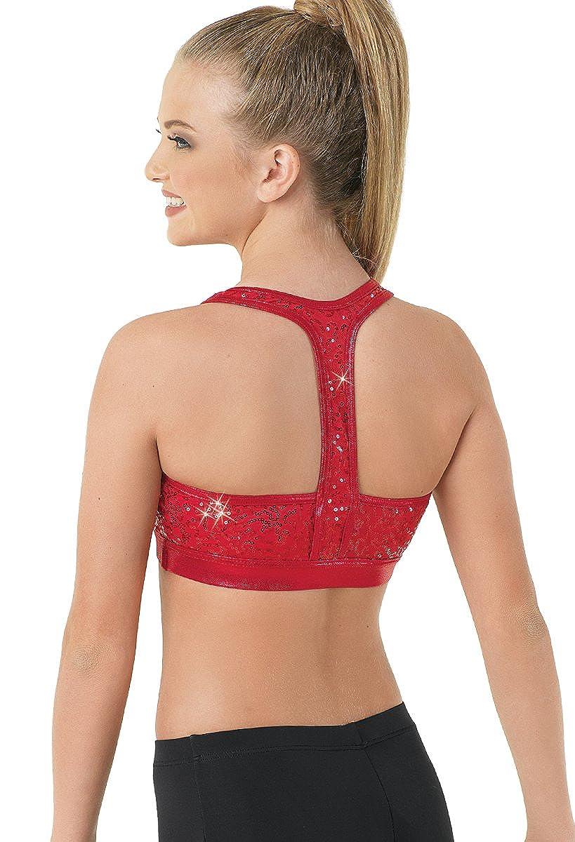 28470c3e0042c Amazon.com  Balera Bra Top Girls Racerback For Dance Sequin and Metallic T  Back Sports Bra  Clothing