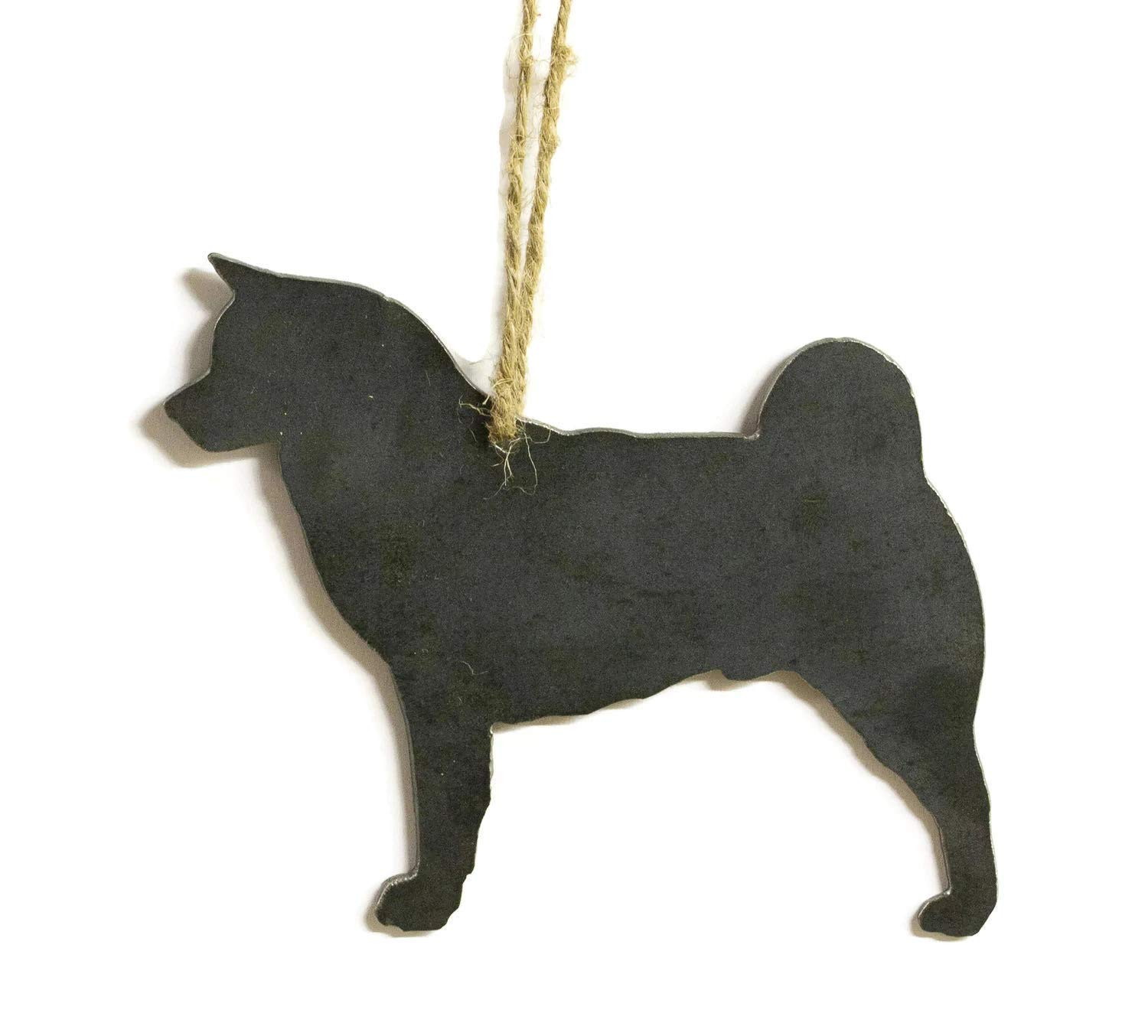 Akita Dog Metal Christmas Ornament Tree Stocking Stuffer Party Favor Holiday Decoration Raw Steel Gift Recycled Nature Home Decor 1