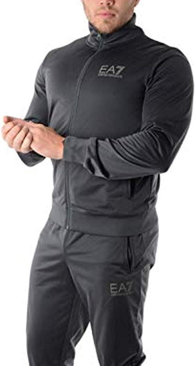 EA7 de los Hombres Chándal con Logo, Negro, XL: Amazon.es ...