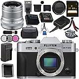 Fujifilm X-T20 Mirrorless Digital Camera (Silver) 16542359 XF 50mm f/2 R WR Lens (Silver) 16536623 Bundle