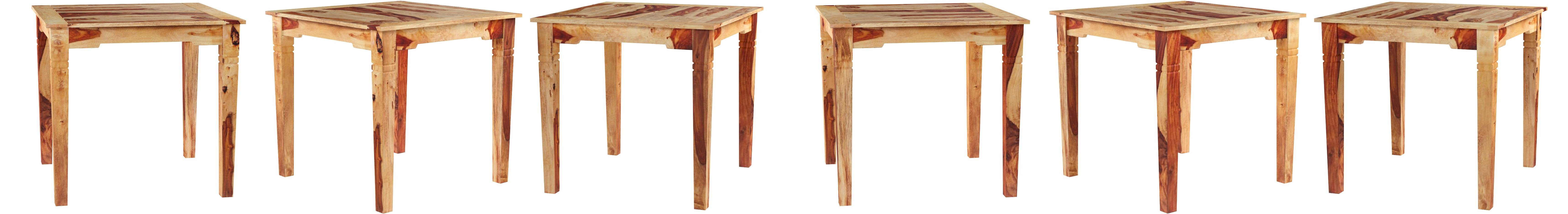 vidaXL Tavolo da Pranzo in Legno Massello di Sheesham 82x80x76 cm Sala Cucina