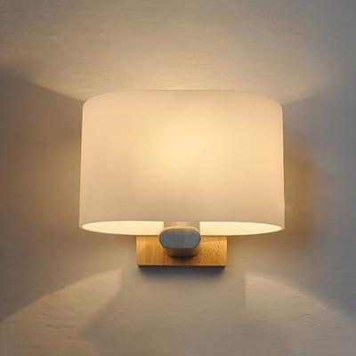 QFF Luminaire de chambre à coucher en bois massif