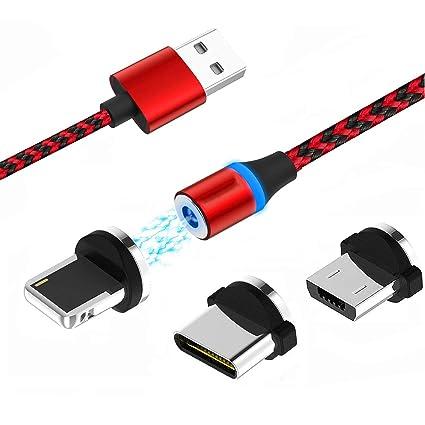 Amazon.com: Cable de carga magnético USB tipo C con ...