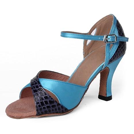 5d071b6b Jig Foo Sandalias de pie Abierto Latino Salsa bluego Bailes Zapatos de  Baile para Mujer con