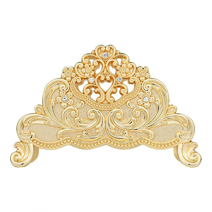 Nerien Decorative Metal Napkin Holder Vintage Floral Paper Napkin Storage Gold by Nerien