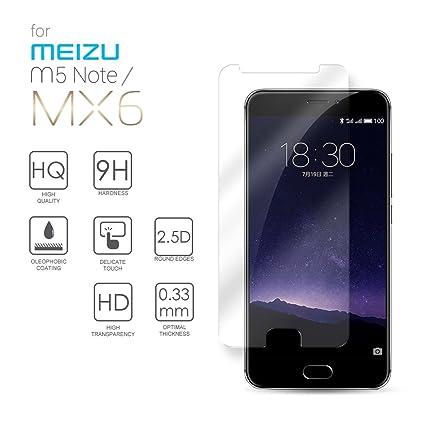 Meizu MX6 Cristal Protector de pantalla, eProte® Vidrio Templado ...