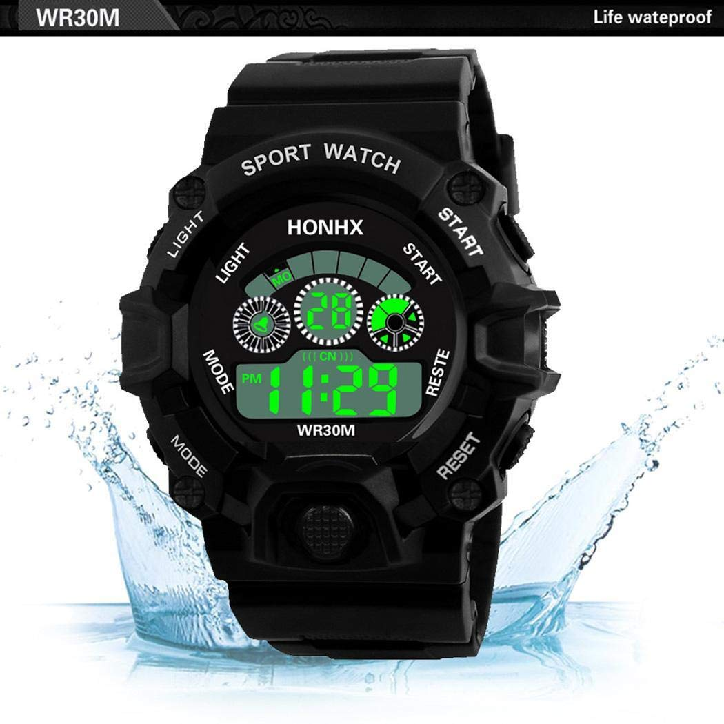 Amazon.com: Men Watches On Sale Clearance,Men Multifunction Sport Digital LED Watch Electronic Waterproof Watch Everything Else,Black: Clothing