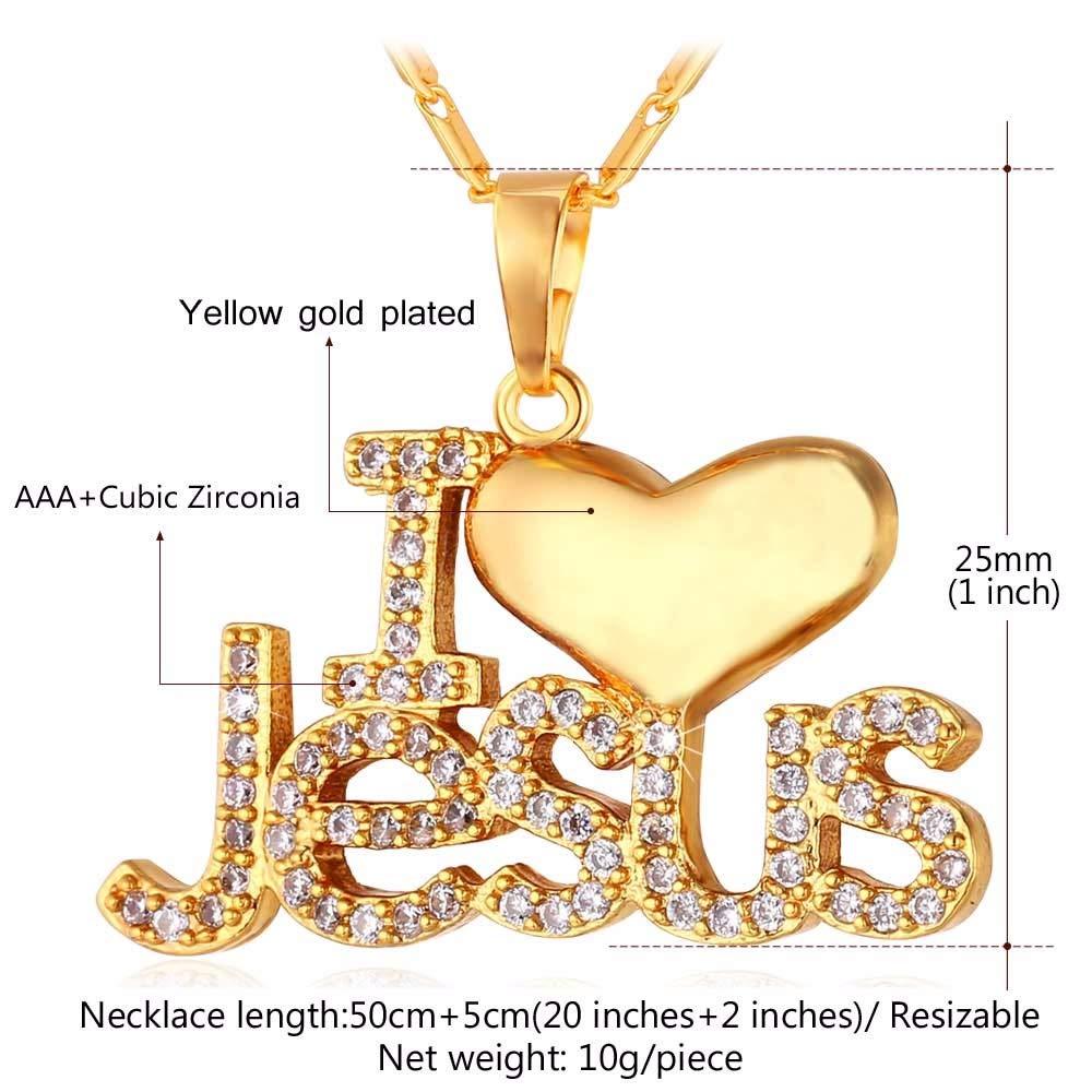 Necklace Jesus Heart Pendant Chain
