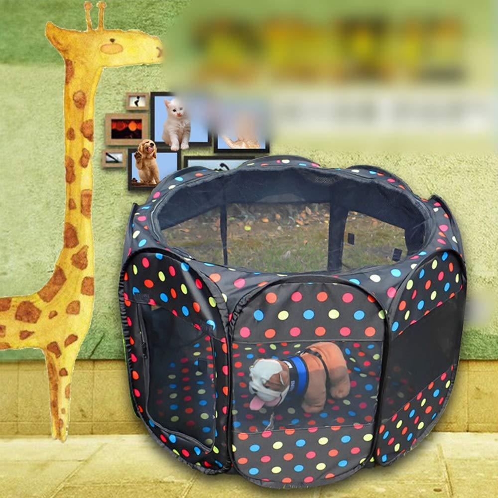Gooderia ペットフェンスオックスフォード布テントタイプ折りたたみポータブル8面テント犬小屋猫の家 (Color : Color, サイズ : 114.3(L)x61(H)cm) B07Q7GJVJ6 Color 114.3(L)x61(H)cm
