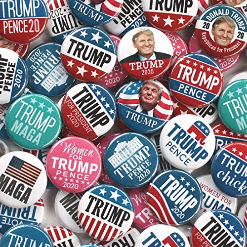 - Marsh Enterprises 25-pack Mini Buttons - Donald Trump 2020 MAGA Photo Women for Assorted Designs #4098 Lapel Pins