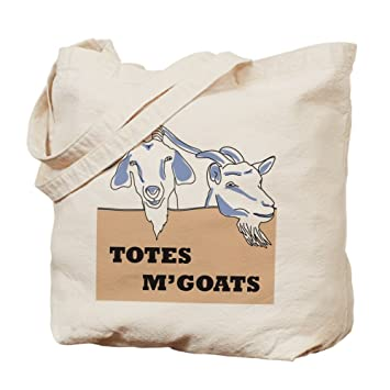 Amazon.com: CafePress - Totes M'goats Bag - Natural Canvas Tote ...