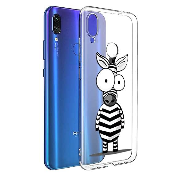 Eouine Xiaomi Redmi Note 7 Case, Phone Case Transparent Clear with Pattern Ultra Slim Shockproof Soft Gel TPU Silicone Back Cover Bumper Skin for ...