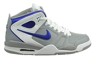 04a6624a5fcc Nike Air Flight Falcon Men s Basketball Shoes Stadium Grey Hyper Blue-White  397204-