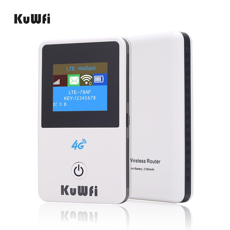 KuWFi Enrutador Wi-Fi 4G Desbloqueado de 150Mbps con Ranura ...