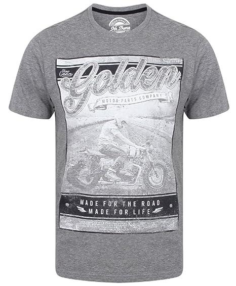 Camisetas Estampadas con Relieve para Hombre Camiseta de algodón con diseño en Top South Shore Golden: Amazon.es: Ropa y accesorios