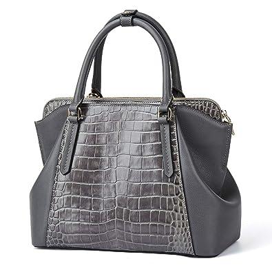 e3bc2d50409f52 Frauen Echtes Leder Designer Handtaschen Luxus Krokodil Top-Griff Taschen  Abend Schulranzen Schultertaschen