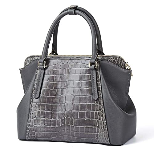 acac8d15619 Women Genuine Leather Designer Handbags Luxury Crocodile Top-handle Bags  Evening Satchels Shoulder Bags