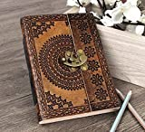 storeindya Handmade Genuine Leather Journal Eco-Friendly Unlined Pages Compact Travel Diary Writing Journal