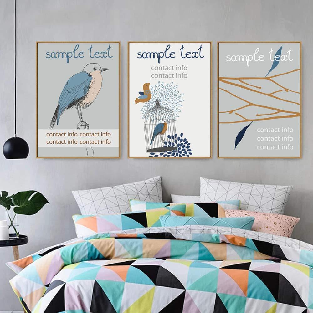 CWJ Decoración de la Pared Pared Pared - 2018 Pintura Vertical del pájaro, Pintura Decorativa Americana, Pintura Decorativa de la Sala de Estar, Pintura de la Oficina, Mural del Hotel,C,40  60 fa26a7