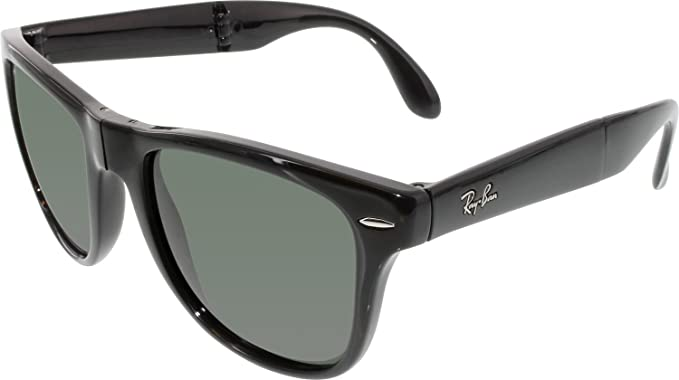 62f9a6a96f Ray-Ban Sunglasses - RB4105 Folding Wayfarer   Frame  Black Lens  Green  Polarized