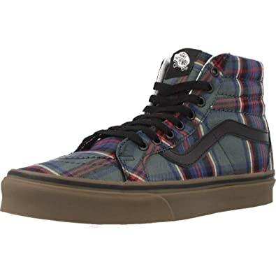 Vans Chaussures Basket Mode UA Sk8 Hi Hi Hi Reissue Tartan Gum Noir 539fbc