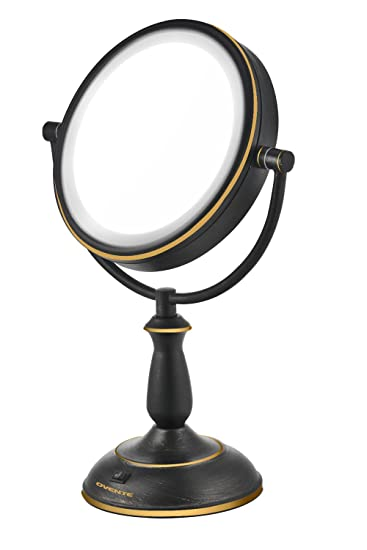 oil rubbed bronze bathroom mirrors walmart frameless mirror metal framed inch led lighted tabletop makeup magnification