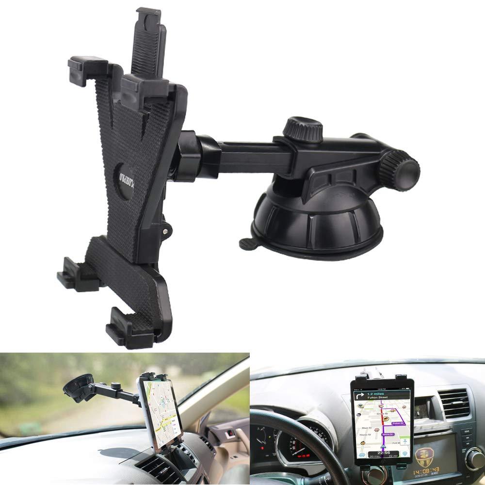 Tablet Holder for Car Dashboard, Windshield Mount,Adjustable Universal 360° Adjustable Rotating for iPad, iPad Air, iPad Mini, Samsung Galaxy6- 10.5'' Tablet TPU Suction Cup Sticky Gel