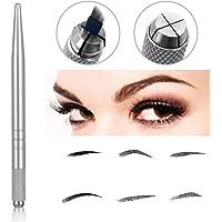 Pinkiou Eyebrow Tattoo Pen Microblading Máquina de maquillaje permanente (Plata)