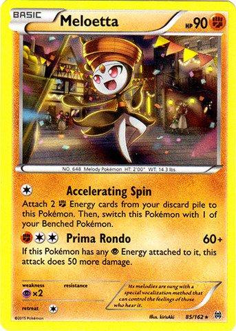 Pokemon - Meloetta (85/162) - XY BREAKthrough - Holo (Meloetta Card)