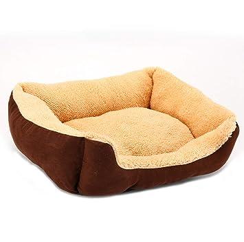 CHENYAJUAN Cama para Perros Pequeños, Medianos, Grandes Productos para Mascotas Perros Gatos Cachorros Invierno Sofá Cama Casa Manta Banqueta Cat,M: ...