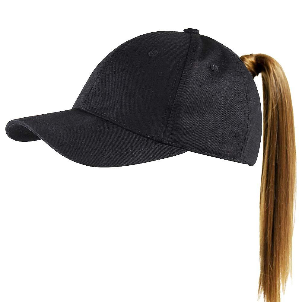 1d90b9497c FURTALK Womens Messy High Bun Mesh Baseball Cap Ponytail Hat Adjustable  Cotton Trucker Baseball Cap Dad