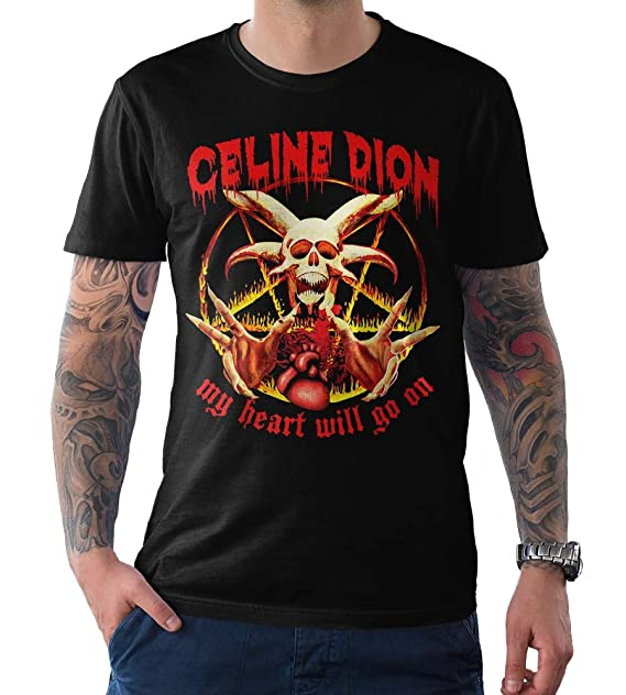 My Heart Will Go On Celline Dion Men/'s Black Tees Shirt Clothing