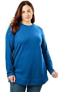 dc5f967ffe0 Dreams   Co. Women s Plus Size Sherpa-Lined Microfleece Bed Jacket ...