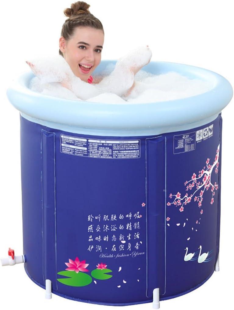 ZDYG Bañera Plegable, Tina de baño Inflable plástica del Engrosamiento del Adulto, Barril del baño, bañera portátil, bañera plástica, bañera del Balneario, bañera del Masaje