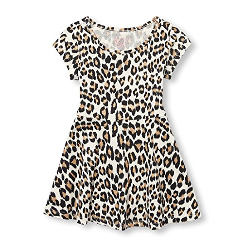 The Children's Place Baby-Girls Short Sleeve Pleated Dress, Pearly WHITES-6973, 18-24MONTH]()
