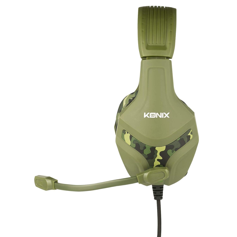 Konix PS-400 Camo - Auricular Gaming Ps4 Camuflaje Compatible con Xbox One, PC, Tablet, Smartphone Audio - Micro Auriculares Gamer con micrófono: Amazon.es: ...