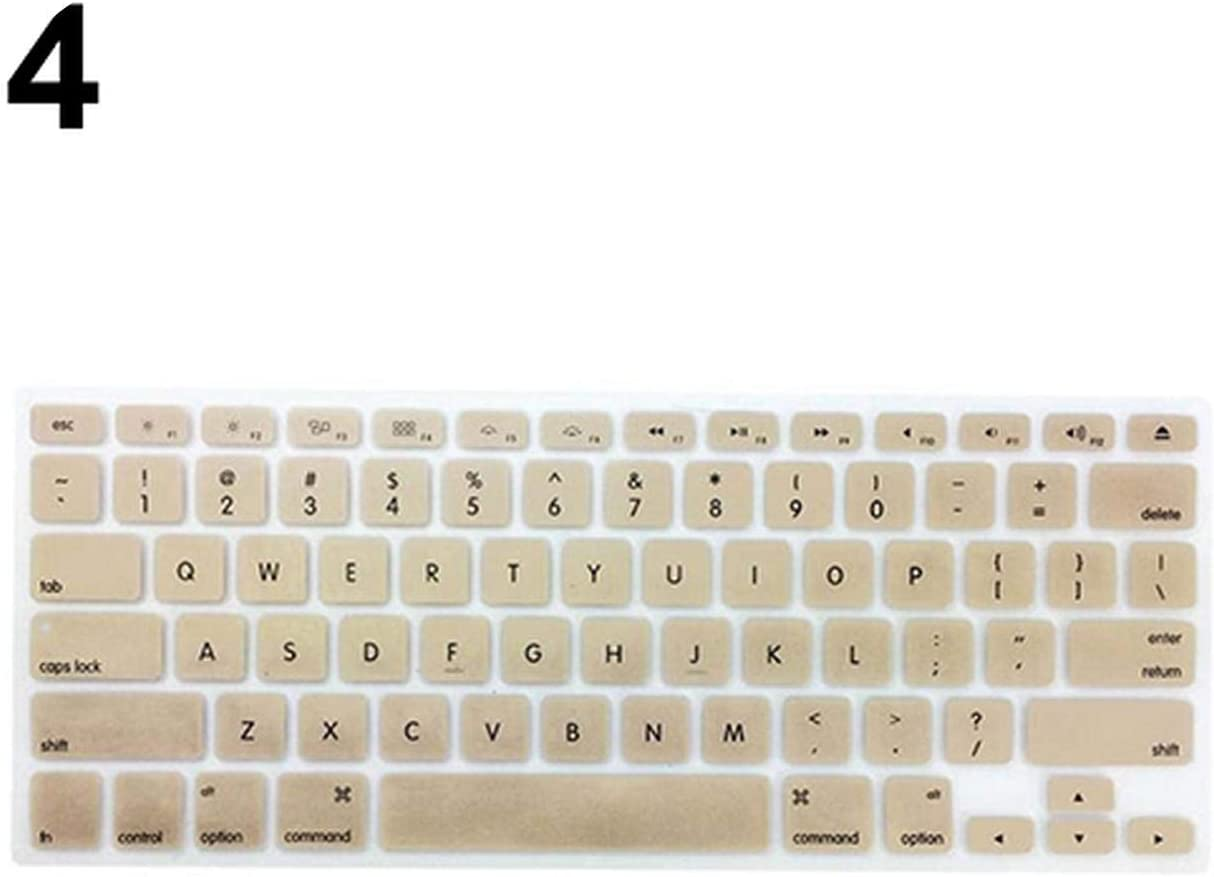 Film Pour Clavier Keyboard Soft Case for MacBook Air Pro 13//15//17 Inches Cover Protector-Gold