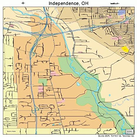 Amazon Com Large Street Road Map Of Independence Ohio Oh
