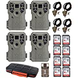 Stealth Cam PX14X P Series 10MP Game/Trail Camera (4x) + Eight 16GB Cards & Case + 4 Cables + Focus USB Reader