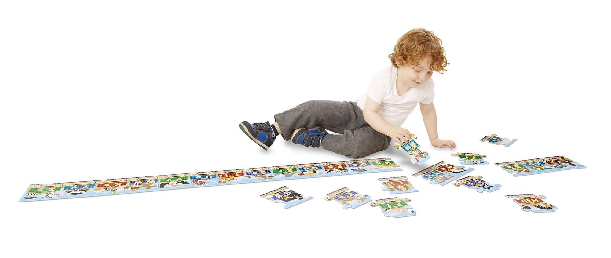 Melissa & Doug Alphabet Express Jumbo Jigsaw Floor Puzzle (27 pcs, 10 feet long) by Melissa & Doug (Image #1)