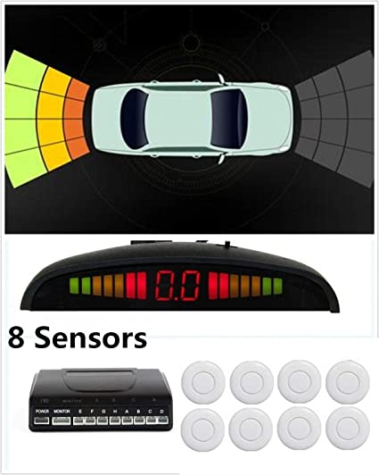 59f584c5c3c Image Unavailable. Image not available for. Color  8 Sensors Car Parking  Sensor Auto Reverse Rear Backup Radar Stop Park Assistance Kit Buzzer Alarm