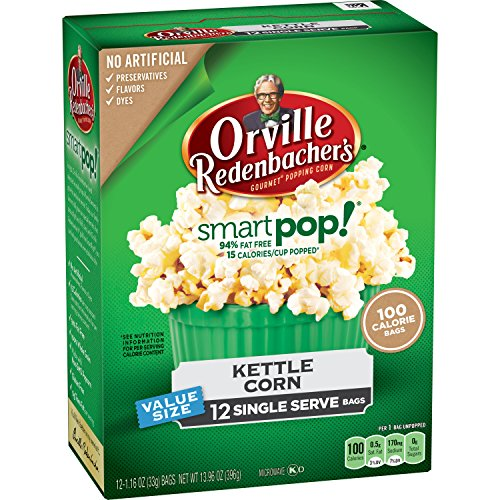 Amazon.com: Orville Redenbacher's SmartPop! Kettle Corn Popcorn, 1.16 Ounce  Single Serve Bag, 12-Count, Pack of 6