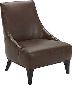 Amazon Brand – Stone & Beam Shorebrook Deep Leather Accent Chair, 27.6